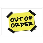 Out of Order Large Poster