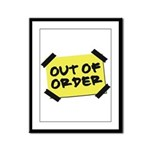 Out of Order Framed Panel Print