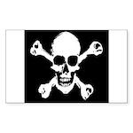 Skull & Crossbones Rectangle Sticker