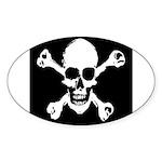 Skull & Crossbones Oval Sticker
