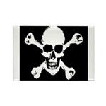 Skull & Crossbones Rectangle Magnet (10 pack)