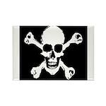 Skull & Crossbones Rectangle Magnet (100 pack)