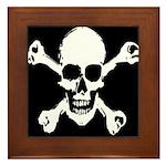 Skull & Crossbones Framed Tile