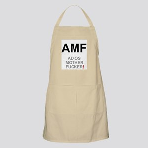 TEXTING SPEAK - - AMF ADIOS MOTHER FUCKER! Z Apron