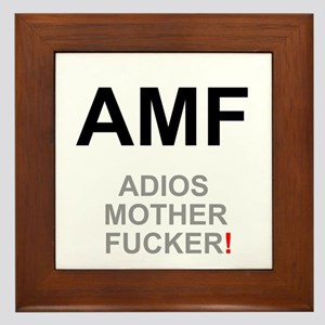 TEXTING SPEAK - - AMF ADIOS MOTHER FUC Framed Tile