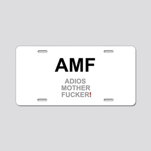 TEXTING SPEAK - - AMF ADIOS Aluminum License Plate