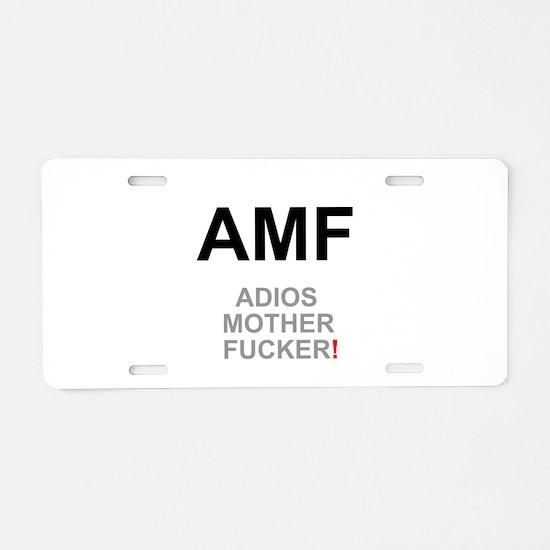 TEXTING SPEAK - - AMF ADIOS Aluminum License Plate