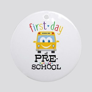 Preschool Round Ornament