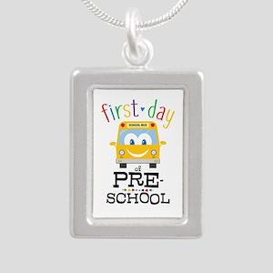 Preschool Silver Portrait Necklace