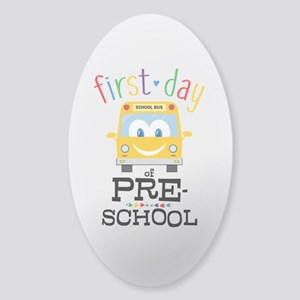 Preschool Sticker (Oval)