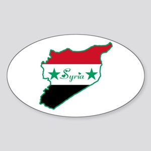 Cool Syria Oval Sticker