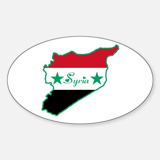 Cool Syria Oval Decal