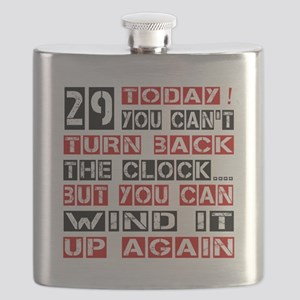 29 Turn Back Birthday Designs Flask
