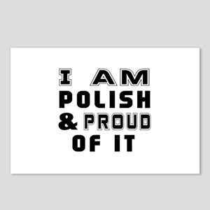 I Am Polish And Proud Of Postcards (Package of 8)