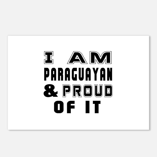 I Am Paraguayan And Proud Postcards (Package of 8)