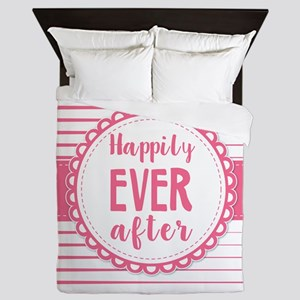Pink Happily Ever After Queen Duvet