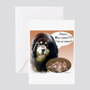 Tibetan Mastiff Turkey Greeting Card