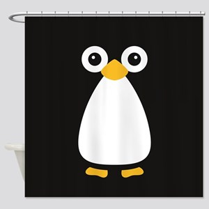 Cute Vector Penguin Shower Curtain