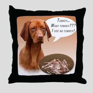 Vizsla Turkey Throw Pillow