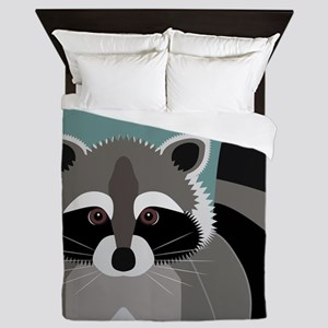 Raccoon Rascal Queen Duvet