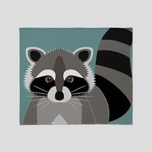 Raccoon Rascal Throw Blanket