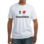 I Love Cannibals Fitted T-Shirt