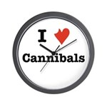 I Love Cannibals Wall Clock