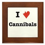I Love Cannibals Framed Tile