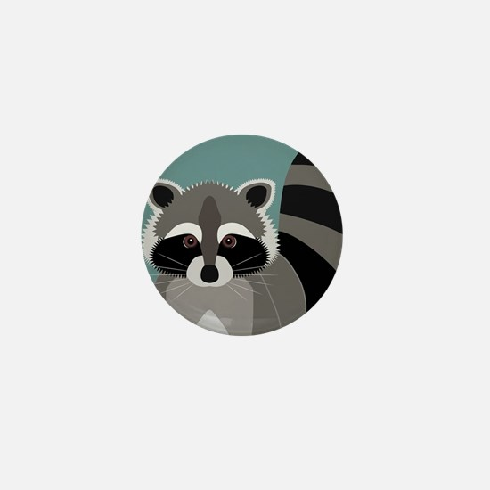 Raccoon Rascal Mini Button