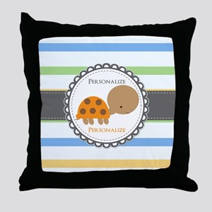 Cute Turtle Personalized Throw Pillow