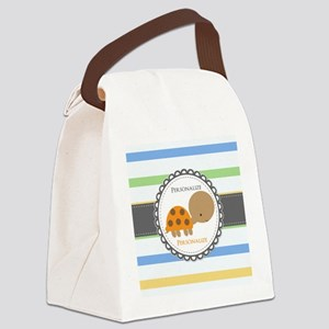 Cute Turtle Personalized Canvas Lunch Bag
