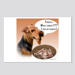 Welsh Terrier Turkey Postcards (Package of 8)