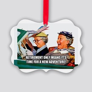 Retirement Adventure Picture Ornament