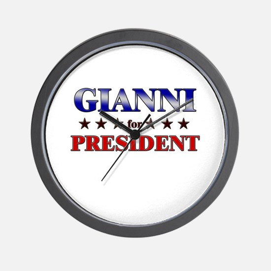 GIANNI for president Wall Clock