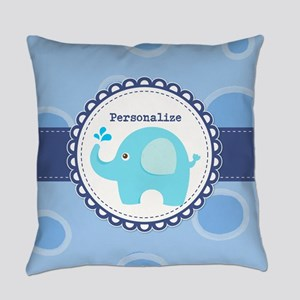 Elephant Baby Dots Personalized Everyday Pillow