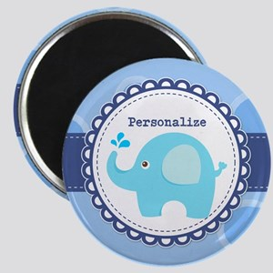 Elephant Baby Dots Personalized Magnet