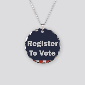 Register to Vote Necklace Circle Charm