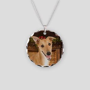 Greyhound Christmas Necklace
