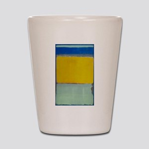ROTHKO BLUE YELLOW Shot Glass