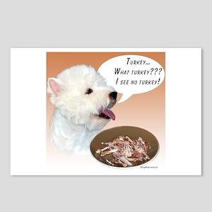 Westie Turkey Postcards (Package of 8)