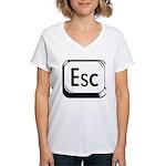Escape Key Women's V-Neck T-Shirt