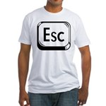 Escape Key Fitted T-Shirt