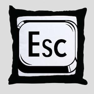 Escape Key Throw Pillow