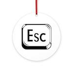 Escape Key Ornament (Round)
