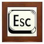 Escape Key Framed Tile