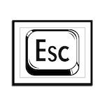 Escape Key Framed Panel Print