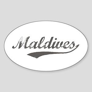 Maldives Flanger Oval Sticker