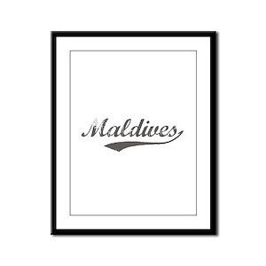 Maldives Flanger Framed Panel Print