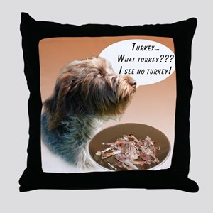 Griffon Turkey Throw Pillow