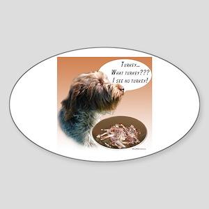 Griffon Turkey Oval Sticker